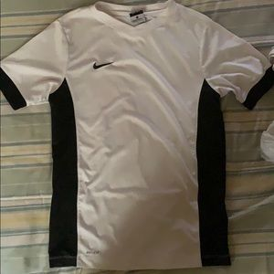 a nike dri - fit v neck tee